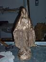 Madonna di Lourdes in bronzo